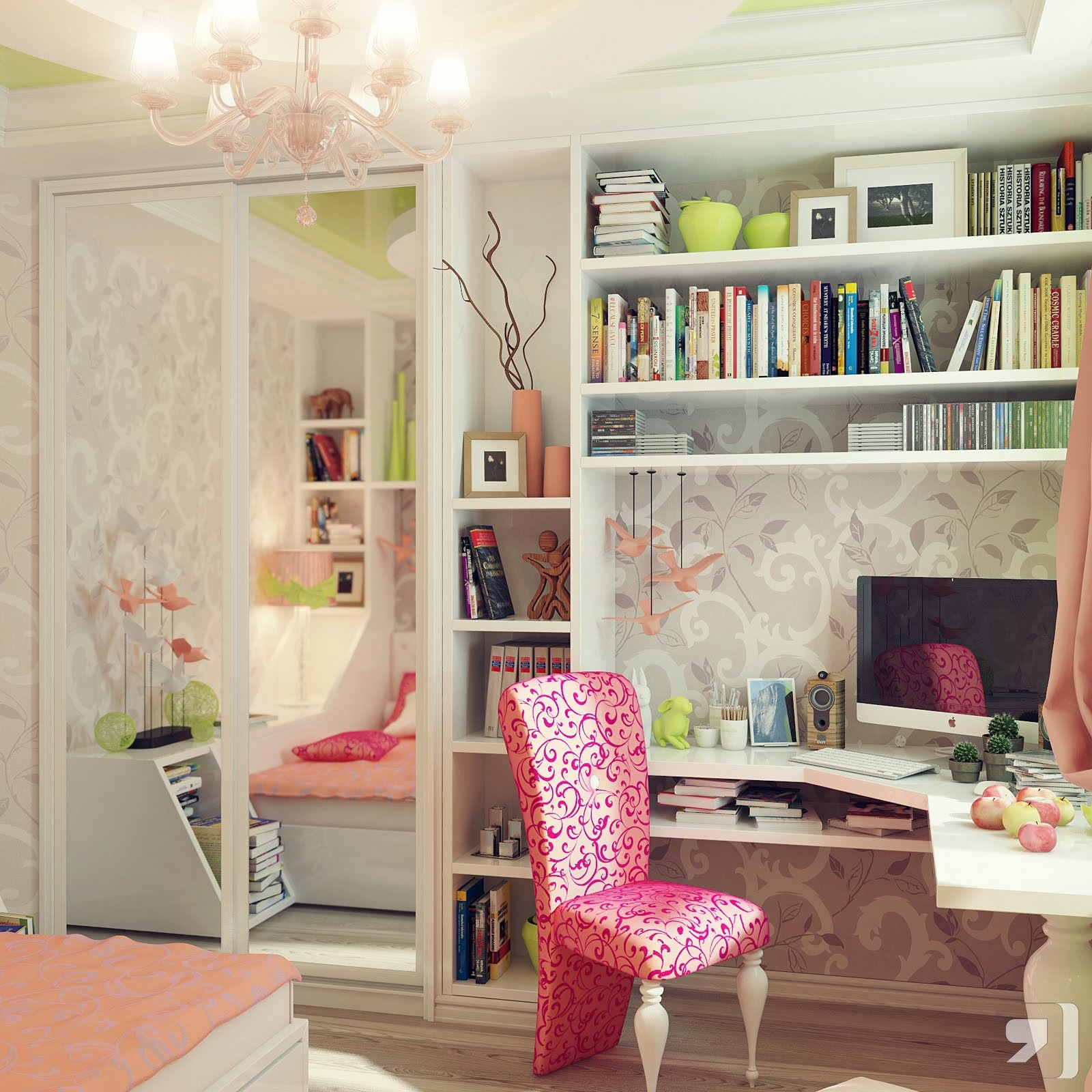 1b-Bespoke-white-corner-desk-pink-chair